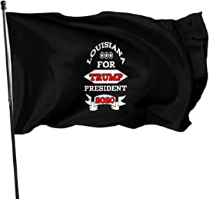 Opplsh Hdrejn Louisiana for Trump Decorative Garden Flag Yard Banner Garden Flag One Size