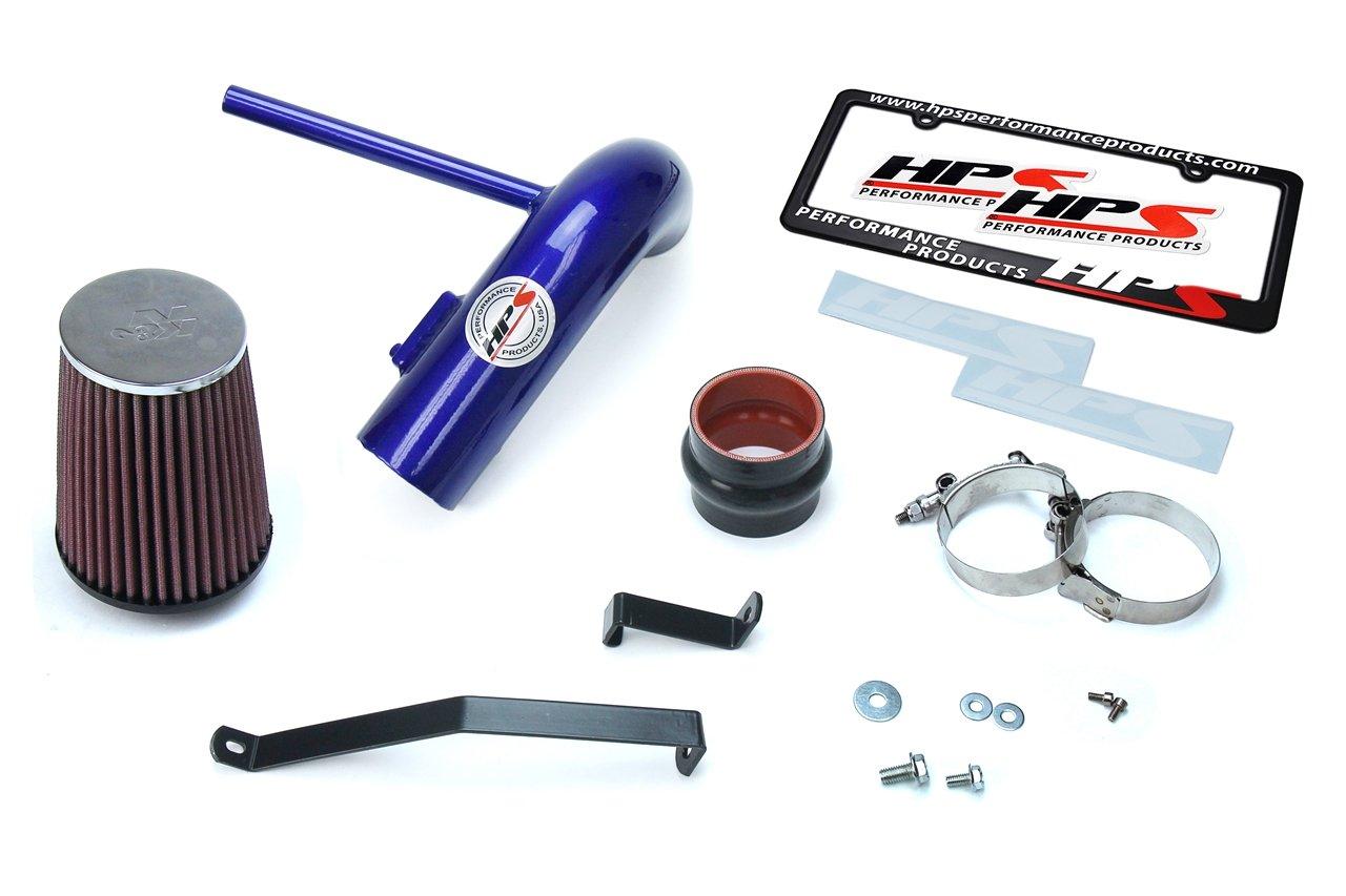 Non-Carb Compliant HPS 27-502WB Wrinkle Black Shortram Air Intake Kit Cool