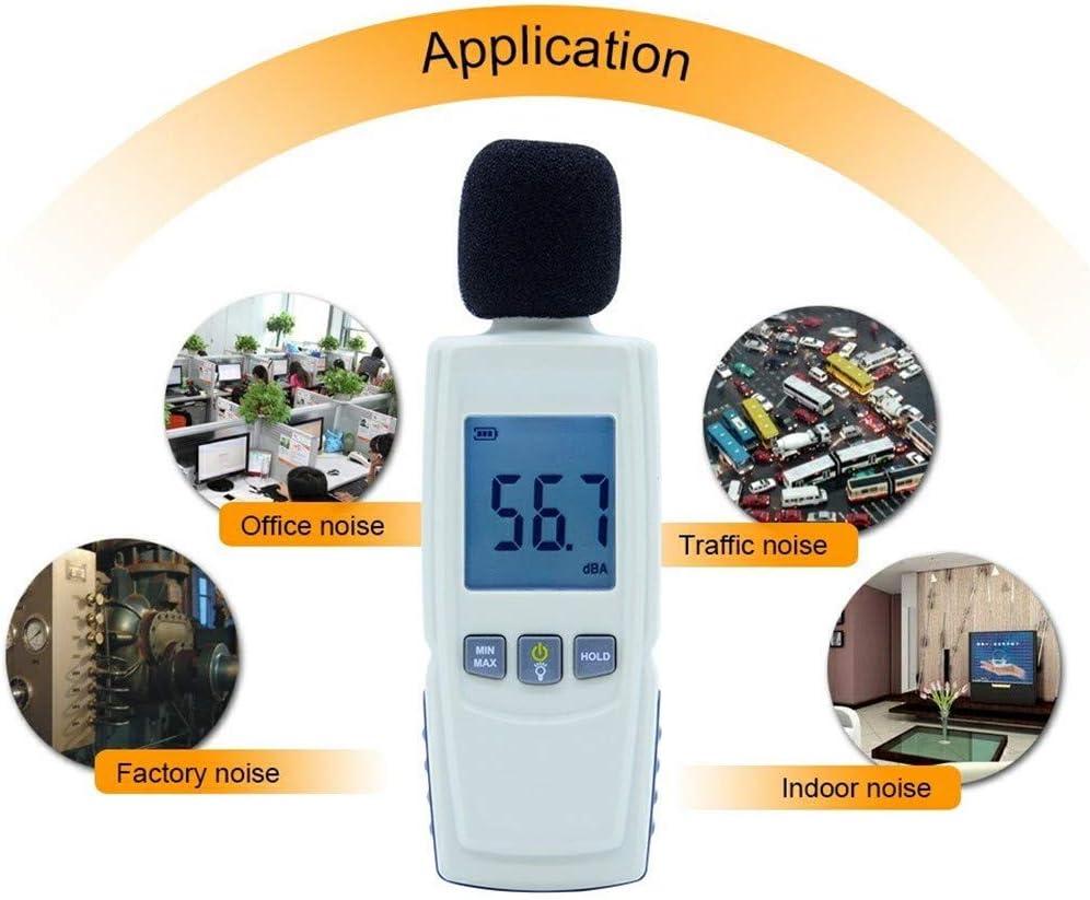 Noise Volume Measuring Instrument Self-Calibrated Decibel Monitoring Tester,30-130 dB Range for Sound Level Testing Decibel Meter//Sound Level Reader