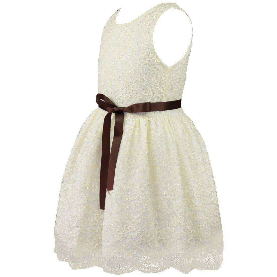 iiniim Vestido de Fiesta Largo para Boda Vestido de Ceremonia Vestido de Gasa Vestido de Princesa para Niñas y Bebés 6 Meses-10 Años: Amazon.es: Ropa y ...