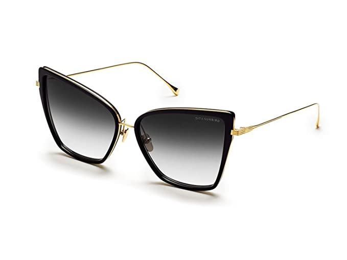 affd22ee01 Image Unavailable. Image not available for. Colour  Dita SUNBIRD MATTE  BLACK GOLD K DARK GREY women Sunglasses