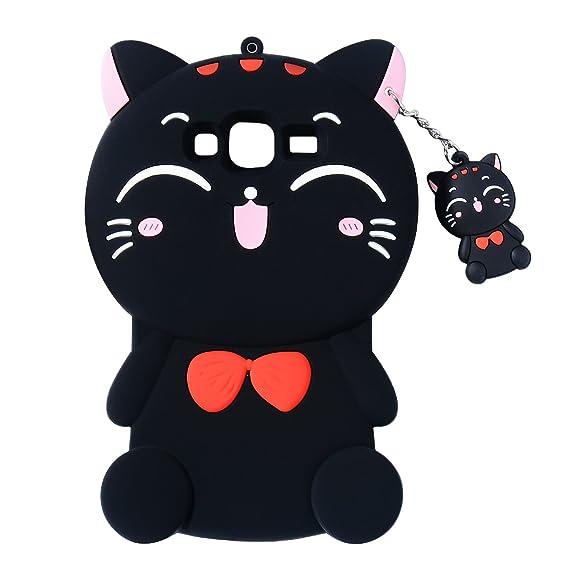 best website 508cd 1e8e4 Black Cat Case for Samsung Galaxy On 5,Grand Prime Case,J2 Prime Lucky  Cover,3D Cute Cartoon Animal Shell,Joyleop Kids Girls Soft Silicone Kawaii  ...
