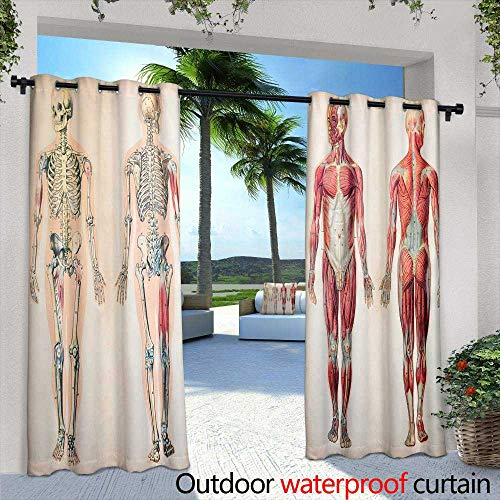 berrly Fashions Drape,Oil Painting Paris European City Landscape France Wallpaper Eiffel Tower Black White and red,W72 x L108 Outdoor Curtain for Patio,Outdoor Patio Curtains