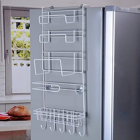 Superieur Refrigerator Side Storage Rack For Kitchen Storage Wrap Rack Organizer