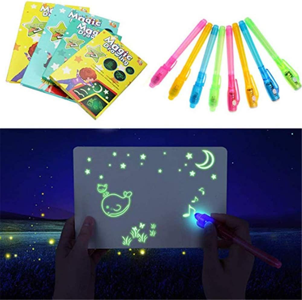 Luminous Drawing Board Kit,Developing Educational Toys for Toddlers Kids Light Drawing Pad,Glow in Dark Painting Board