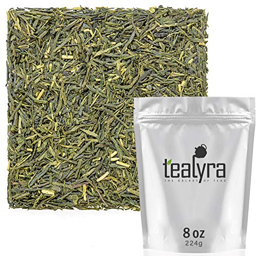 Tealyra - Sencha Satsuma - Japanese Green Tea - Luxury Loose Tea - Rich Taste Pure Green Tea - Antioxidants Rich - Low Caffeine - 224g (8-ounce)
