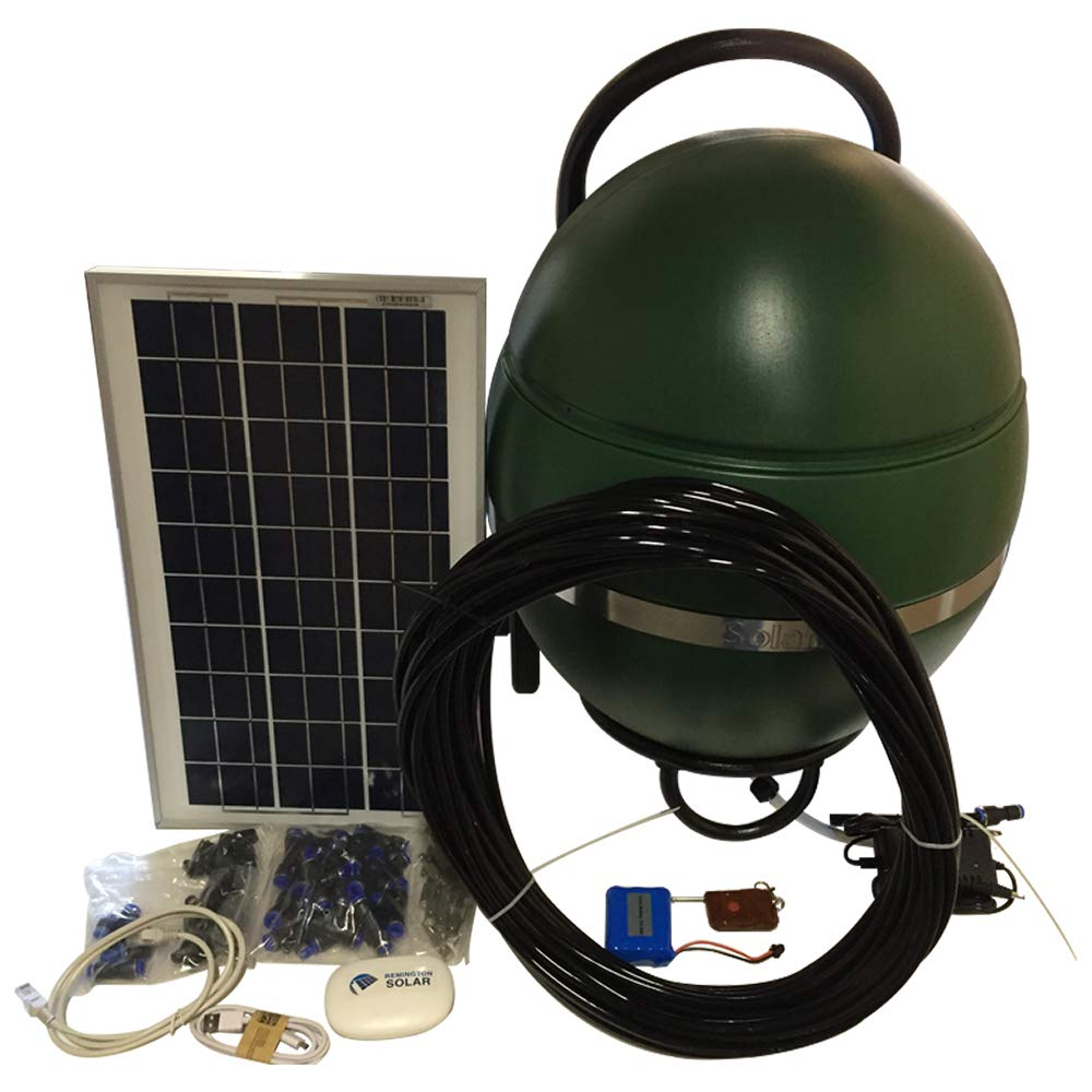 SolaMist Mosquito Control, Repellent, Outdoor Misting System to Kill Mosquitoes, Insects, Patio, Yard Porch etc, Wi-Fi to Manage Spray Times and Fill Level, Qualifies for 30% Federal Solar Tax Rebate