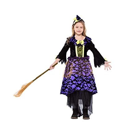 06a800d29f5c Image Unavailable. Image not available for. Color: YaXuan Girls' Halloween  Costumes Little Witch Cute Carnival Witch Magic ...