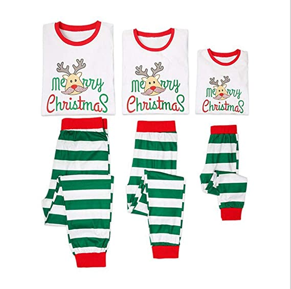 CHRONSTYLE Conjunto de Pijamas Familiares de Navidad, Trajes Navideños para Mujeres Hombres Niño, Ropa Invierno Sudadera Chándal Suéter Niños de Navidad: ...