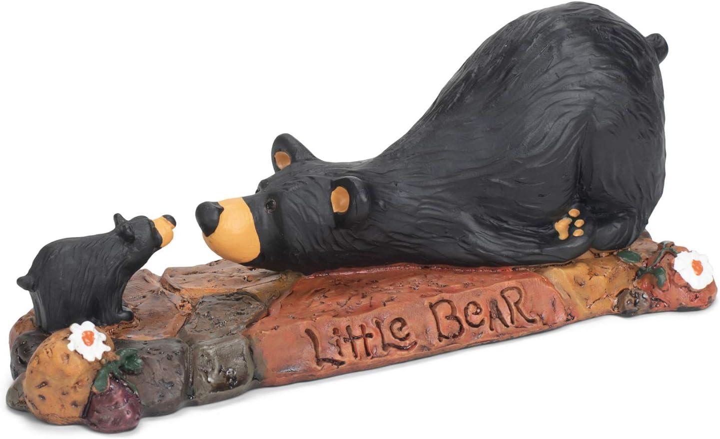 DEMDACO Little Bear Black Bear 2 x 6 Hand-cast Resin Figurine Sculpture