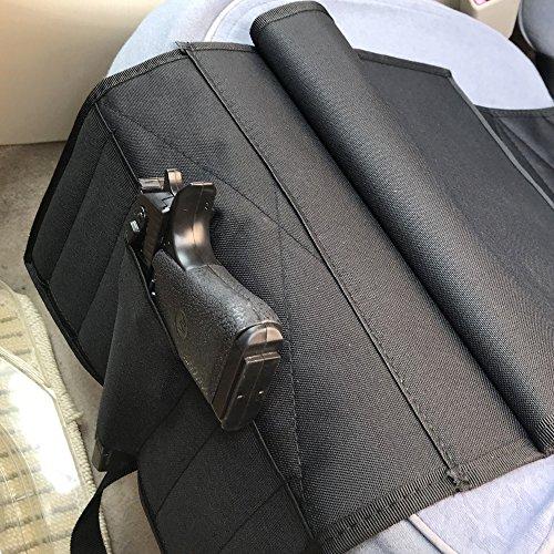 Adjustable Pistol Pocket Car Seat Holster,Black