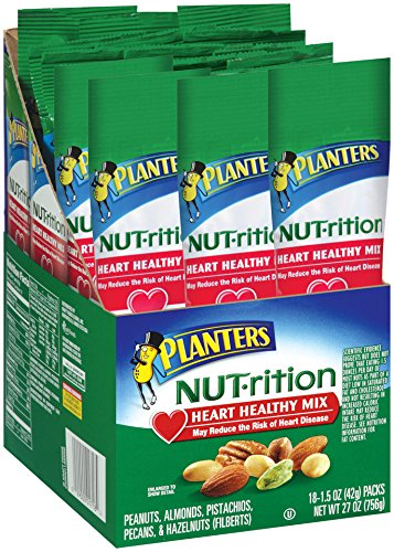 Planters Nutrition Heart Healthy Mix, 1.5 Ounce- 18 (Health Nut)