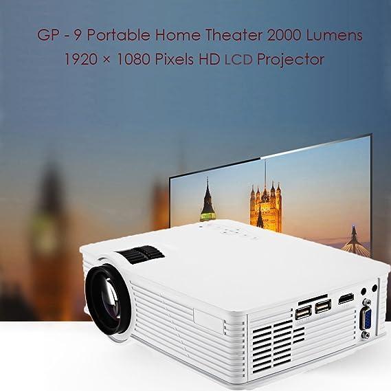 Proyector zeepin GP 109 - Proyector LCD 2000 lumens 1920 x 1080 ...