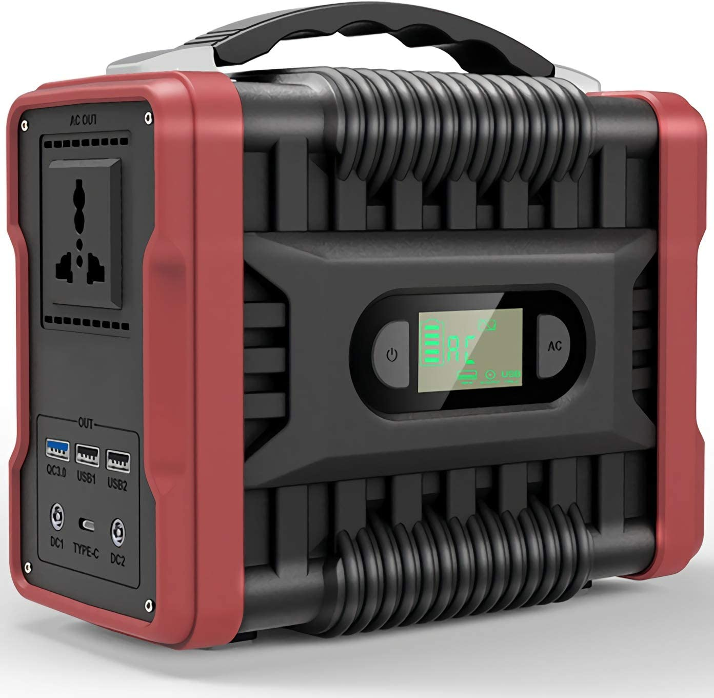 Portable Power Station Solar Generator Mobile Lithium Battery Pack Quiet with 200W 60000Mah for Road Trip Camping, Outdoor Adventure
