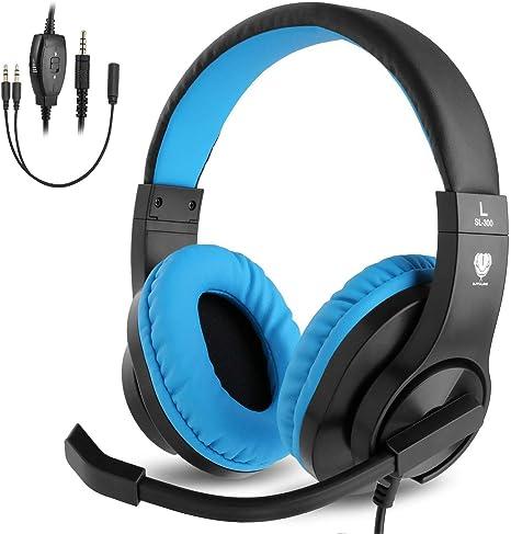 BlueFire Cascos Gaming PS4 con Microfono,Auriculares de Diadema ...