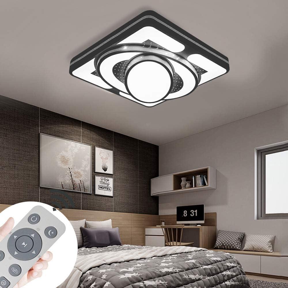 Plafonnier LED Lampe de Plafond 90W Lampe de salon Plafonniers modernes Cuisine Salle de bains Hall dentr/ée Chambre /à coucher Blanc, 90W-Dimmable