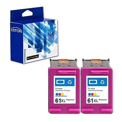 Eston 61 x l cartuchos de tinta de repuesto para HP61 HP61 X L uso ...
