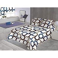 SABANALIA - Colcha Aros (Disponible en Varios tamaños y Colores), Cama 80-170 x 280, Azul