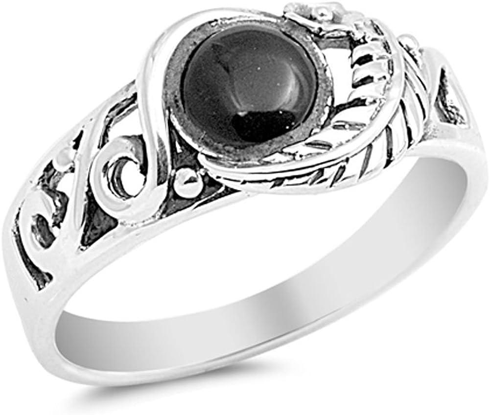 Elegir su color plata de ley anillo de hojas