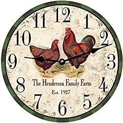 Personalized Chicken Clock