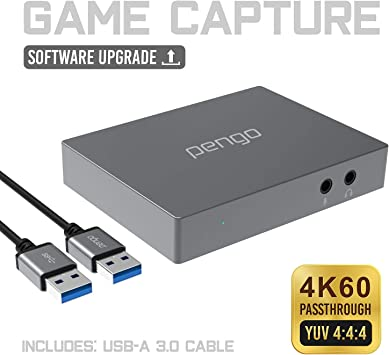 pengo 4K HDMI Pass-Through Grabber, Game Capture, Capturadora De ...