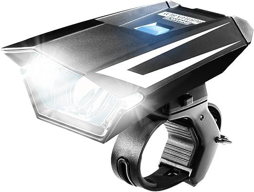 Linterna para Bicicleta LED ENHANCE con indicador de Bateria y dos ...