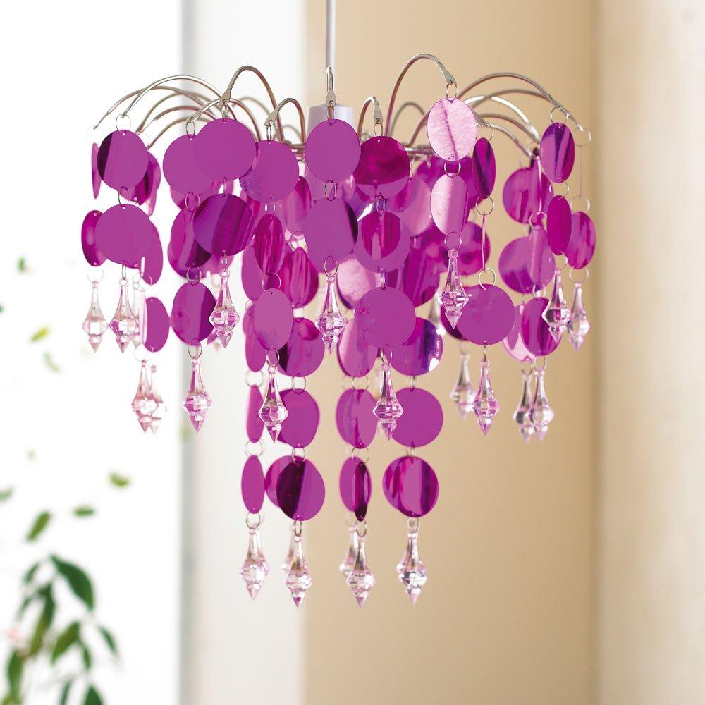 pink chandelier lighting. Chandelier Light Lamp Shade Modern Design Lightshade Metallic Pink Amazoncouk Kitchen U0026 Home Lighting O