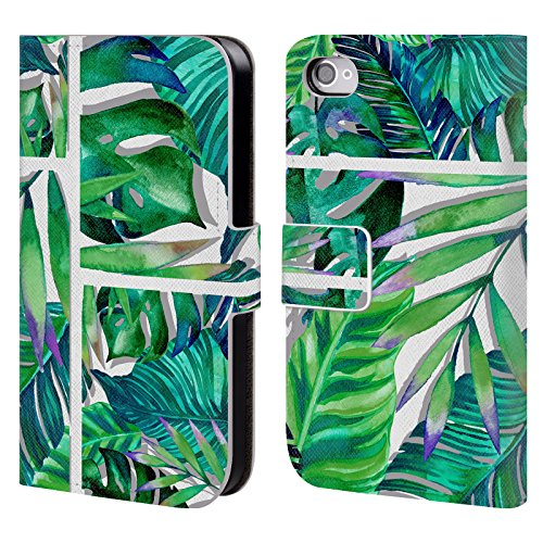 Officiel Mark Ashkenazi Tropical Vert Vie De Banane Étui Coque De Livre En Cuir Pour Apple iPhone 4 / 4S