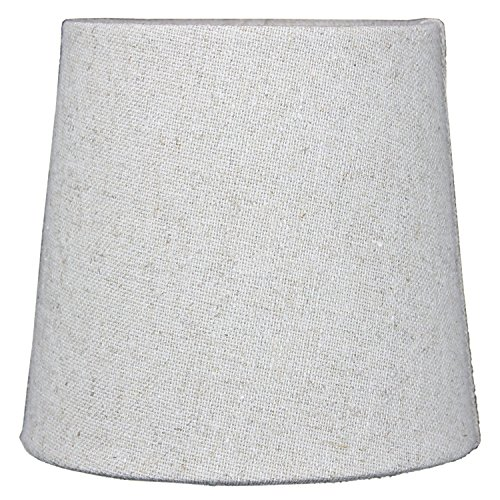 5x6x5 Sand Linen Drum Chandelier Clip-On Lampshade By Home Concept - Perfect for chandeliers, foyer lights, and wall sconces -Small, ()