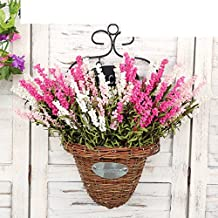 H&X Home Decoration Artificial flower, Silk simulation flower set, Combination placed fake floral, Retro to do the old willow wall mounted-B