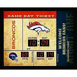Team Sports America Denver Broncos Bluetooth Scoreboard Wall Clock