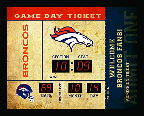 Denver Broncos Bluetooth Scoreboard Wall Clock (Sports Team Wall Clock)