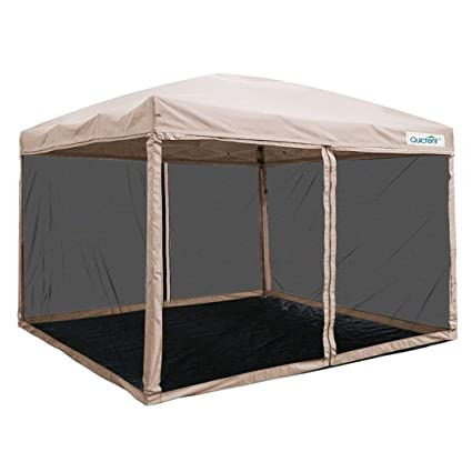 timeless design d7bbc ea4eb Quictent 10X10 Ez Pop up Canopy Screen House Tent with Netting Mesh  Sidewalls Instant Gazebo-3 Colors