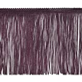 Expo International 20-Yard Chainette Fringe Trim, 4-Inch, Eggplant