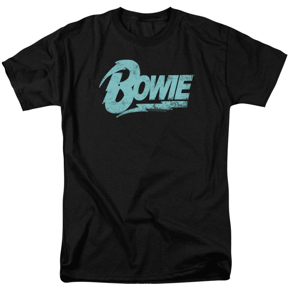 David Bowie Logo Distressed Print Adult Shirts