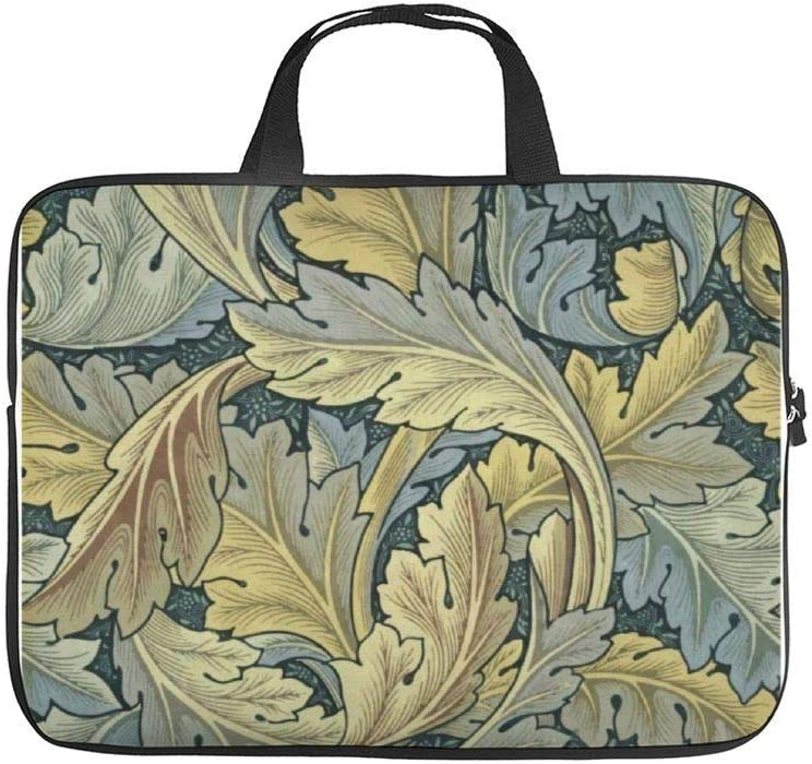 """Neoprene Sleeve Laptop Handbag Case Cover William Morris Acanthus Leaves Floral Art Nouveau 10 Inch Laptop Sleeve Case for 9.7"""" 10.5"""" Ipad Pro Air/ 10"""" Microsoft Surface Go/ 10.5"""" Samsung Galaxy Tab"""