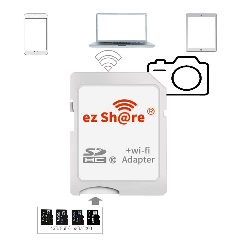 Amazon.com: ez Share 8GB 16GB 32GB Adaptador WiFi SDHC ...