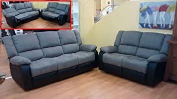 MUEBLES MATO - Sofas 3+2 plazas Eli reclinable: Amazon ...
