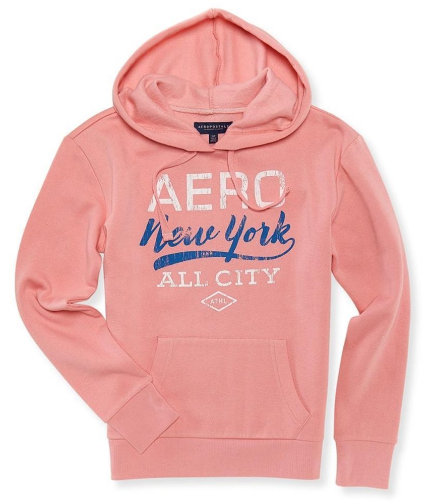 Aeropostale Womens NY All City Hoodie Sweatshirt Pink XS - Juniors by Aeropostale