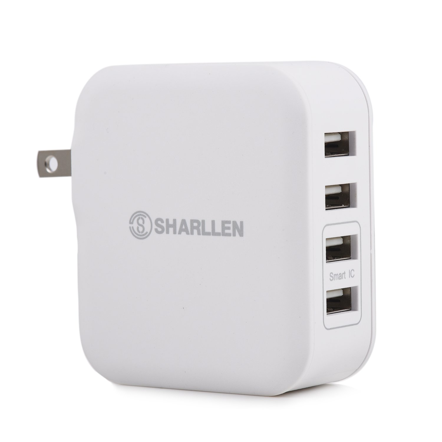 4-Port USB Wall Travel Charger,31 W/6.2A Charger Desktop Charger With Folding Plug Portable Travel Charger for iPhone 7/6s, iPad Pro/Air 2/mini, Galaxy S7/S6, Note 5/4-SHARLLEN