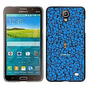 EJOY---Cubierta de la caja de protección para la piel dura ** Samsung Galaxy Mega 2 ** --Azul Sea diferente Dibujo lindo del personaje