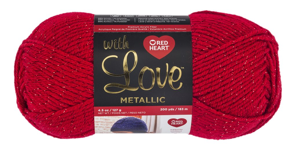 Red Heart E400PK.1012 With With Love 3 Pack Black