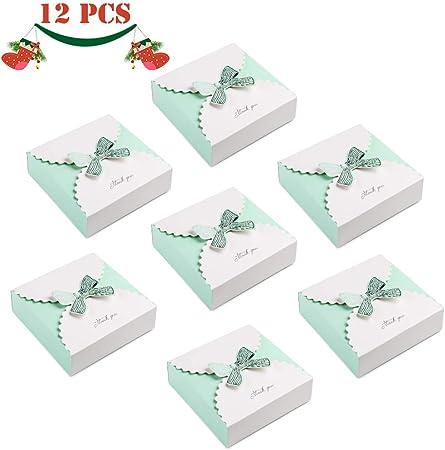 JoGoi 12pcs Cajas para Bombones Cajas para Dulces Colores Regalos Cajita Paper Carton Bombones Caramelos Navidad Boda Cumpleaños Fiesta Bautizo Graduación con Decoración cajitas para regalos: Amazon.es: Hogar