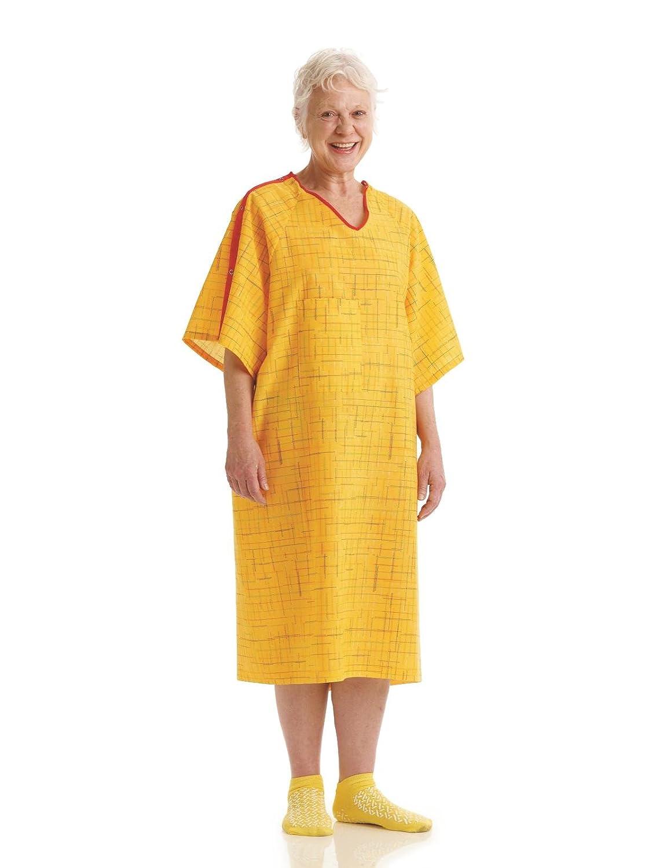 Amazon.com: Medline MDTPG7ITSHRG PerforMAX Fall Prevention IV Gown ...