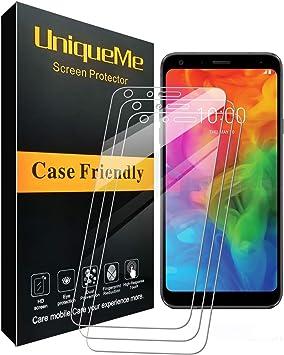 UniqueMe [3 Pack] Protector de Pantalla para LG Q7 / LG Q7 Plus ...