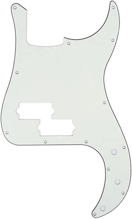 3ply Black//White//Black Scratchplate  Fits 4 string Fender//squier Jazz Bass