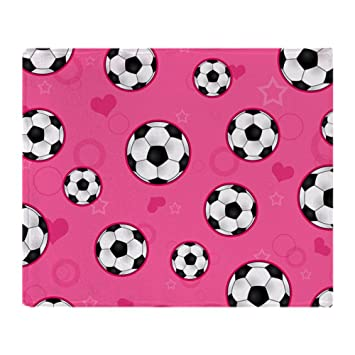 Amazoncom Cafepress Cute Soccer Ball Print Pink Soft Fleece