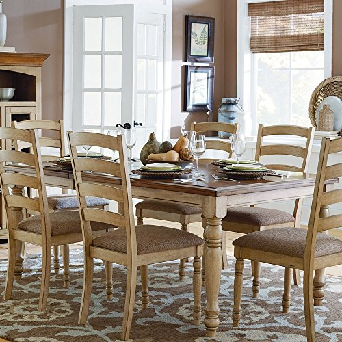 (Homelegance Nash Dining Table with Solid Wood Top and Butterfly Leaf)