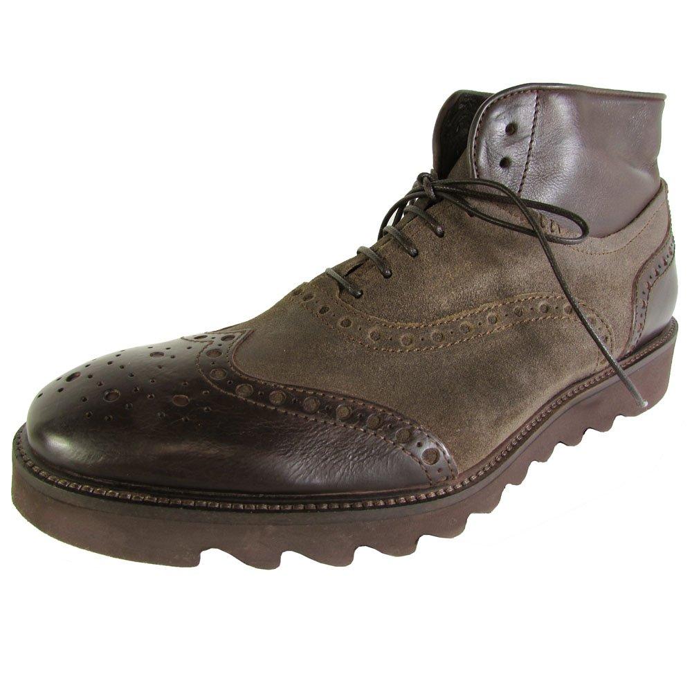 Donald J Pliner Mens Stu-77 Wingtip Boot Shoes, Brown, US 7.5