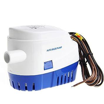 Bomba de agua de sentina NUZAMAS 1100GPH con interruptor automático y sumergible para barcos